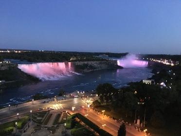 Niagara Falls nighttime view