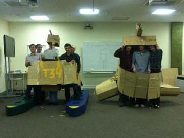 Cardboard tank