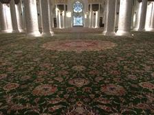 Mosque interior: biggest carpet in the world