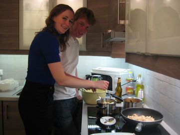 Jan Pieter & Katja cooking