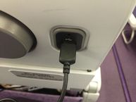 USB charging on the plane!