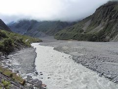 Meltwater from Fox Glacier