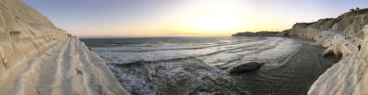 Panorama over the sea