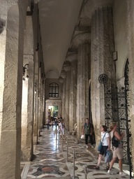 Greek columns in the cathedral of Syracuse