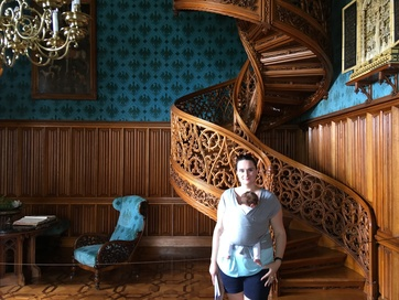 Lednice castle staircase