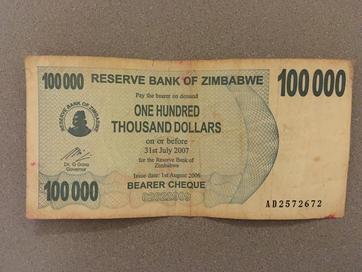 100.000 Zimbabwean dollars