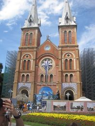 The Notre-Dame Cathedral Basilica in Ho Chi Minh City
