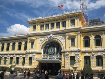 The post office in Ho Chi Minh City