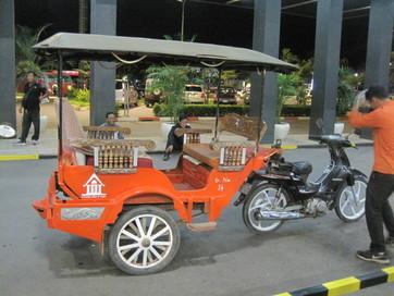 Empty tuk-tuk in Siem Reap